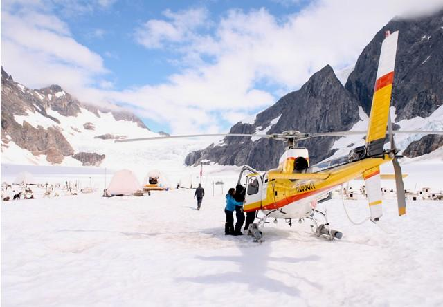 Mendenhall Glacier with Helicopter