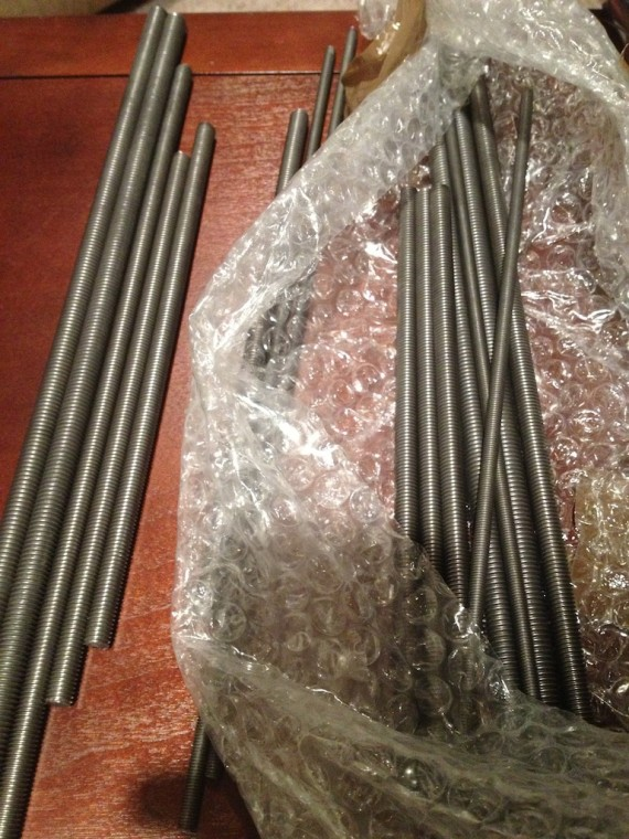 Aaaarg! Two sets of threaded rods!