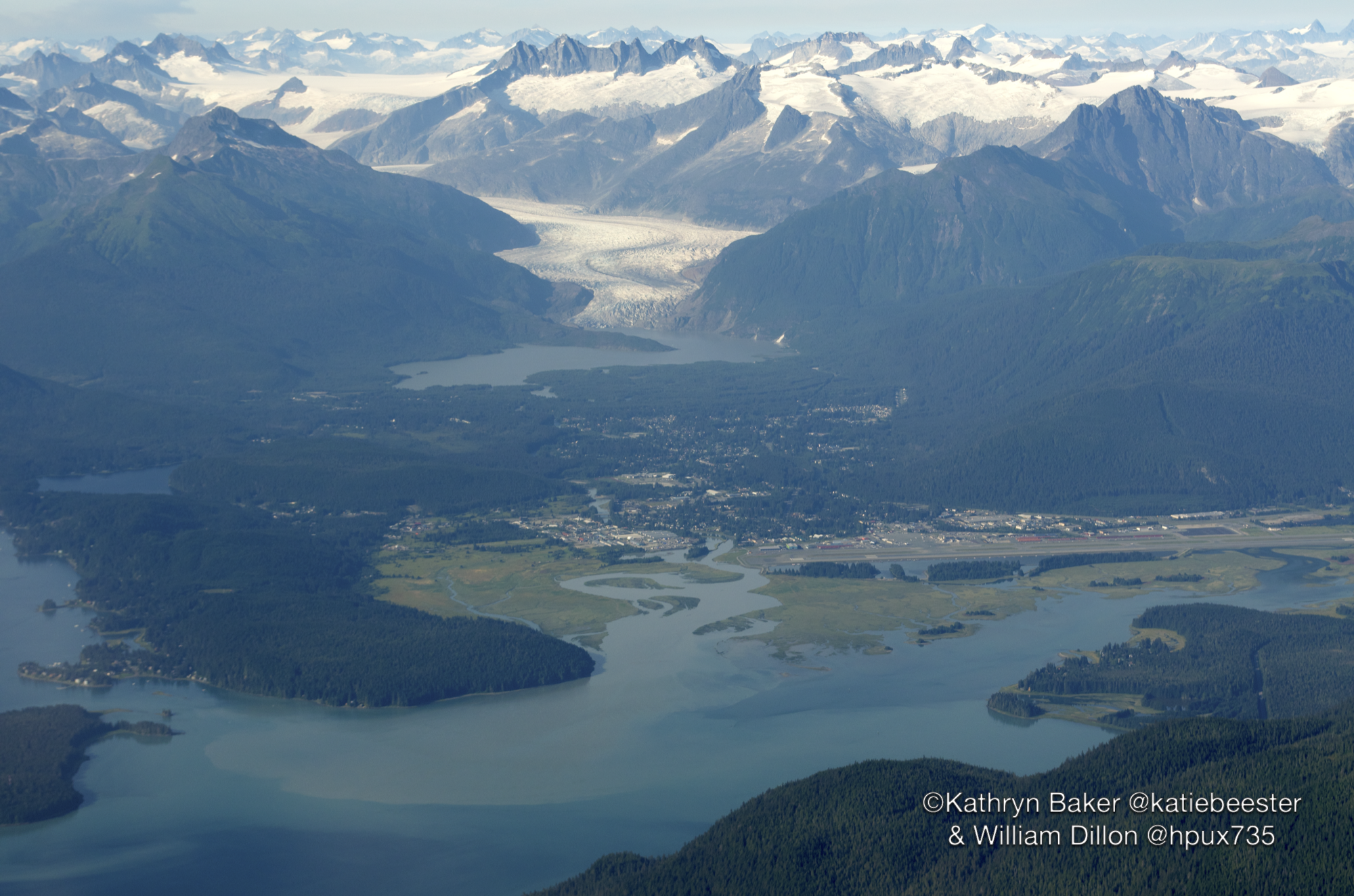 Mendenhall Glacier and Juneau International